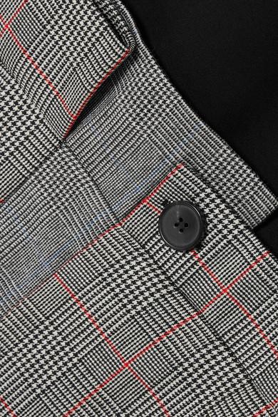 Alexander McQueen Midikleid aus einer Wollmischung mit Glencheck-Muster