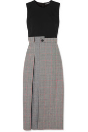 Alexander McQueen Prince of Wales checked wool-blend midi dress