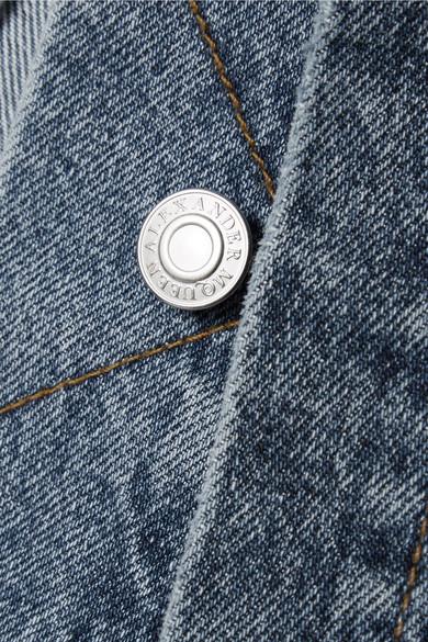 Alexander McQueen Mehrlagige Jeansjacke mit Schößchen