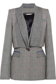 Alexander McQueen Prince of Wales checked wool blazer