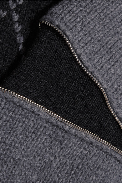 Alexander McQueen Oversized-Pullover aus Wolle mit Reißverschlüssen und Argyle-Muster