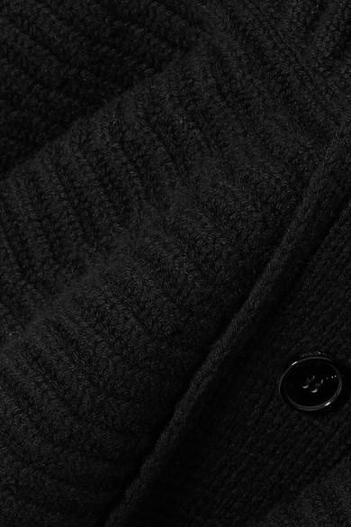 Alexander McQueen Gerippter Cardigan aus Wolle mit Schößchen