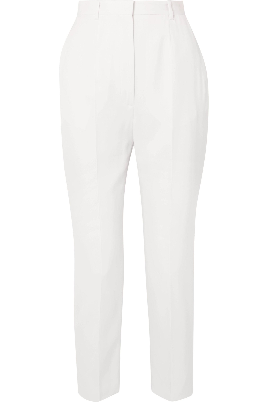 Alexander McQueen Grain de poudre wool slim-leg pants