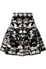 Jacquard-knit mini skirt