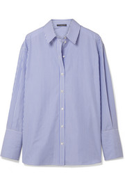 Alexander McQueen Oversized striped cotton-poplin shirt