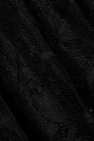 Alexander McQueen Sarabande Tunika aus Spitze aus einer Baumwollmischung mit Stufen