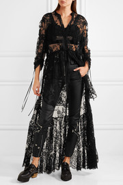 Alexander McQueen Sarabande tiered cotton-blend lace tunic