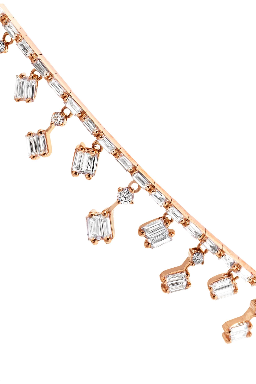 Suzanne Kalan Dangle 18-karat rose gold diamond choker