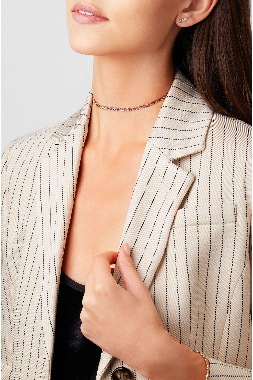 Suzanne Kalan 18-karat rose gold diamond choker