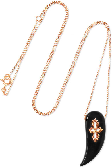 Pascale Monvoisin Sunday 9-karat Rose Gold Bakelite Necklace gCJ7e4