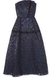Roland Mouret Lydney lace-trimmed fil coupé organza dress