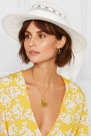 Alice organza-trimmed straw hat