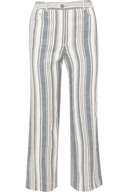 Zimmermann Helm striped linen-blend pants