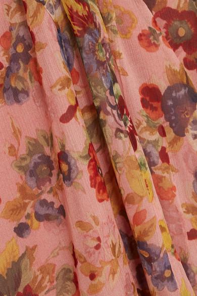 Zimmermann Lovelorn Playsuit aus floral bedrucktem Seiden-Georgette mit Rüschen und Cut-outs an den Schultern Freiheit Der Billigsten YK32Ux3yeG