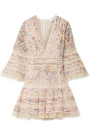 Zimmermann Lovelorn floral-print broderie anglaise cotton mini dress