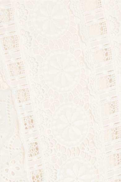 Spielraum Beste Preise Zuverlässig Günstiger Preis Zimmermann Kali Daisy Playsuit aus Baumwolle mit Lochstickerei und Spitze Günstige Preise Und Verfügbarkeit Großer Rabatt rpVLzCC
