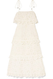 Zimmermann Lumino Daisy broderie anglaise cotton-voile dress