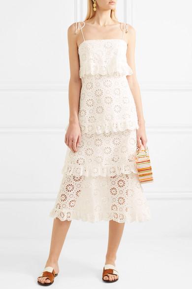 Zimmermann Lumino Daisy Kleid aus Baumwoll-Voile mit Lochstickerei