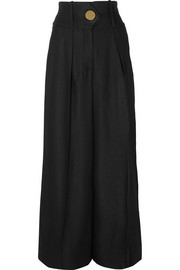 Hella crepe wide-leg pants