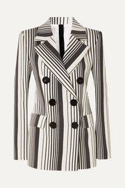 Jill striped wool and silk-blend jacket