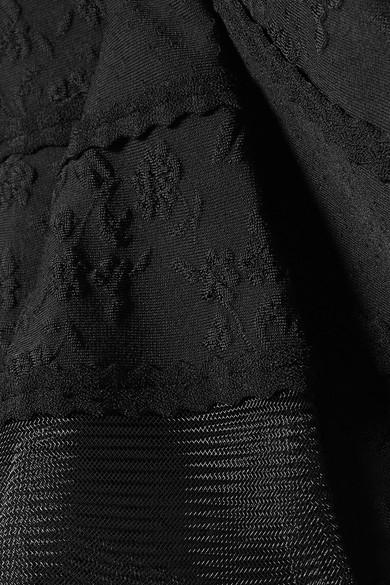 Alexander McQueen Minikleid aus Jacquard-Strick mit Mesh-Einsätzen