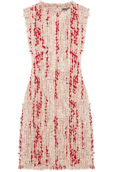 Alexander McQueen Minikleid aus Tweed mit Fransen