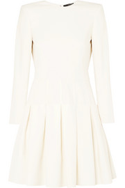 Alexander McQueen Wool-blend cady mini dress