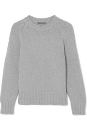 Chunky-knit cashmere and wool-blend sweater