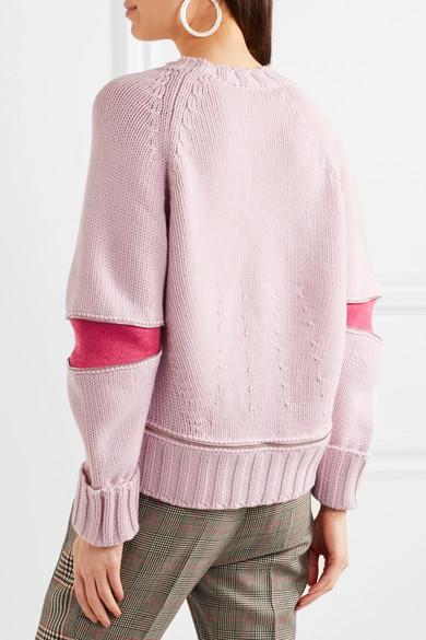 Alexander McQueen Oversized-Pullover aus Merinowolle mit Reißverschlussdetails