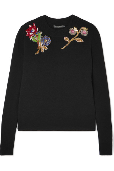 Alexander Mcqueen Embroidered Knitwear With Ornaments