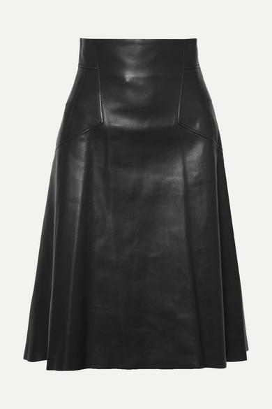 2018 Online Alexander McQueen Midirock aus Leder Qualitativ Hochwertige Online Kaufen Günstige Preise Zuverlässig txjWZfZ4fr