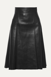 Alexander McQueen Leather midi skirt