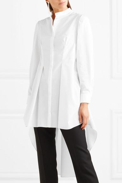 Alexander McQueen Drapiertes Hemd aus Baumwollpopeline