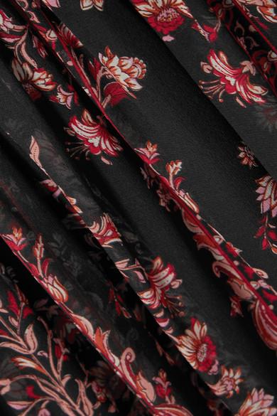 Giambattista Valli Bedruckte Robe aus Seidenchiffon