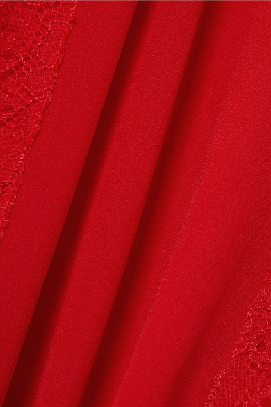 Giambattista Valli Robe aus Chiffon-Seide mit Spitzendetails
