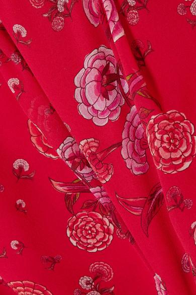 Giambattista Valli Bluse aus Seiden-Georgette mit floralem Print
