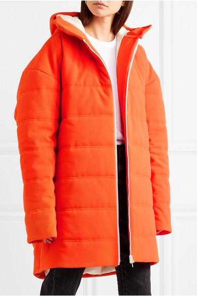 A.W.A.K.E. Oversized-Mantel aus gestepptem Crêpe