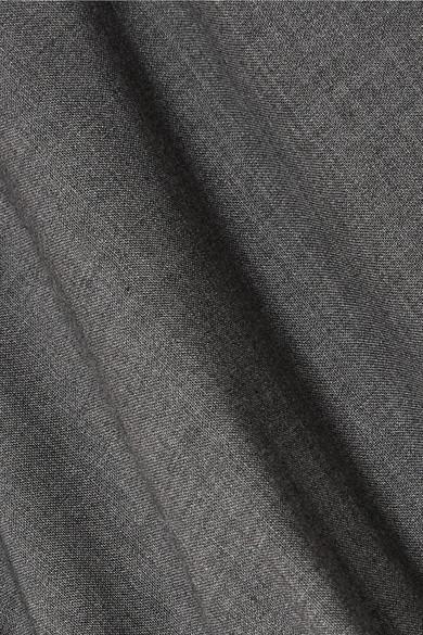 A.W.A.K.E. Oberteil aus einer Wollmischung mit asymmetrischer Schulterpartie und Raffung