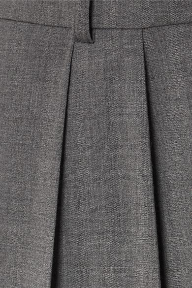 A.W.A.K.E. Hose mit weitem Bein aus einer Wollmischung mit Falten