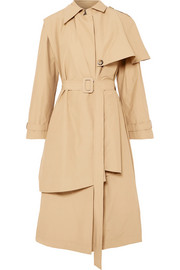 Cape-effect cotton-blend trench coat