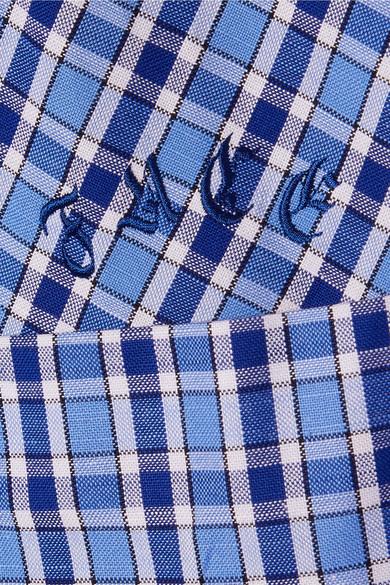 Facetasm Besticktes Hemd aus karierter Baumwollpopeline