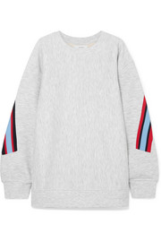 Facetasm Embroidered ribbed-trimmed jersey sweatshirt