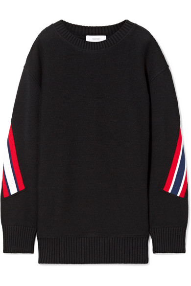 Facetasm Oversized-Pullover aus gestreifter Wolle
