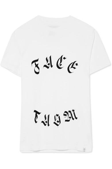 Facetasm Bedrucktes T-Shirt aus Baumwoll-Jersey