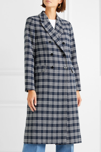 Vanessa Seward Dorian Double Breasted Coat Houndstooth Tweed From A Cotton Blend