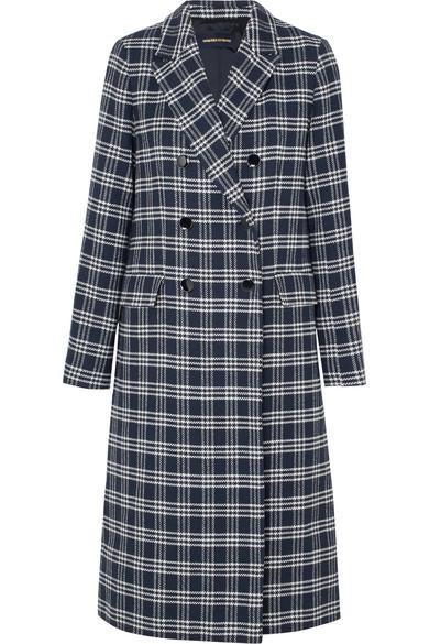 Vanessa Seward Dorian doppelreihiger Mantel aus kariertem Tweed aus einer Baumwollmischung