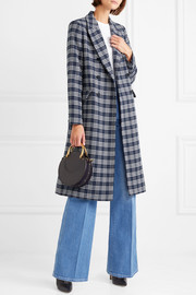 Dorian double-breasted checked cotton-blend tweed coat