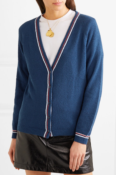 Vanessa Seward Flint Cardigan aus Frottee aus einer Baumwollmischung mit Streifen