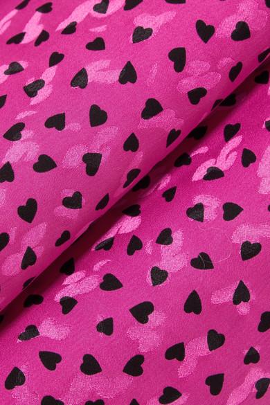 Vanessa Seward Federica bedruckte Bluse aus Seiden-Jacquard