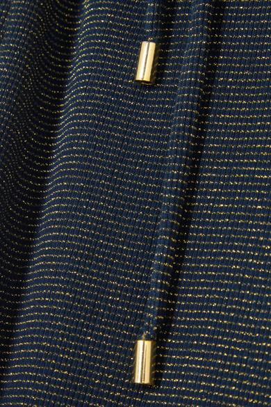 Vanessa Seward Fidji Kleid aus einer gerippten Baumwollmischung in Metallic-Optik